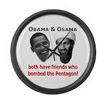 Terrorist Friends Large Wall Clock