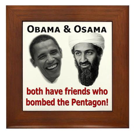 Terrorist Friends Framed Tile