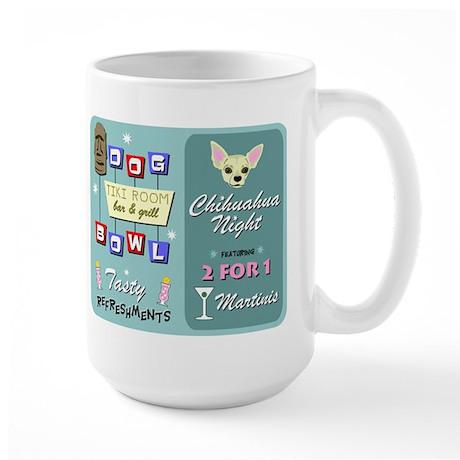Chihuahua Bowling Tiki Large Coffee Mug