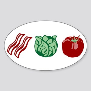 BLT Bacon Lettuce & Tomato Oval Sticker