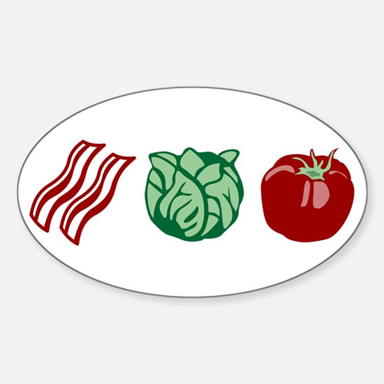 BLT Bacon Lettuce & Tomato Oval Decal