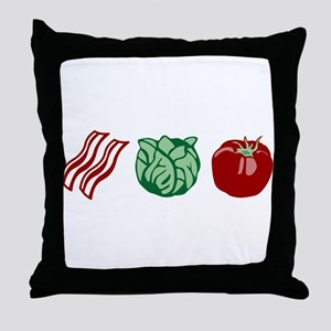 BLT Bacon Lettuce & Tomato Throw Pillow