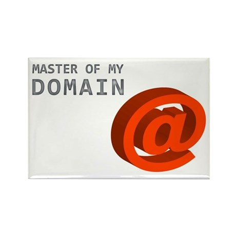 'Master of My Domain' Rectangle Magnet