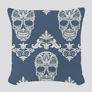 skull pattern Woven Throw Pillow