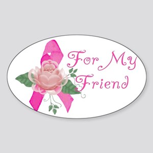 Breast Cancer Support Friend Oval Sticker
