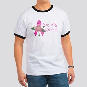 Breast Cancer Support Girlfriend Ringer T