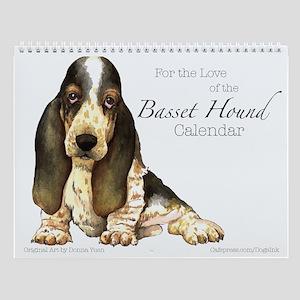 Basset Hound Wall Calendar