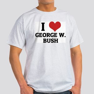 I Love George W. Bush Ash Grey T-Shirt