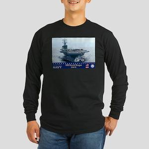 USS Ronald Reagan CVN-76 Long Sleeve Dark T-Shirt