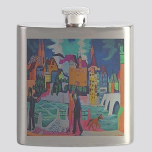Kirchner View of Basel and Rhine Flask
