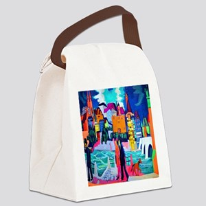 Kirchner View of Basel and Rhine Canvas Lunch Bag