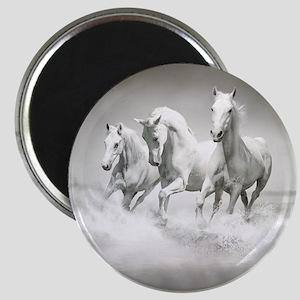 Wild White Horses Magnet