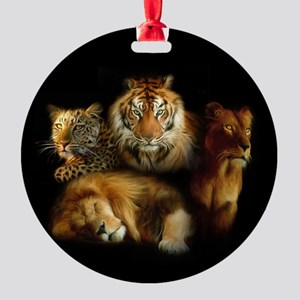 Wild Predators Round Ornament