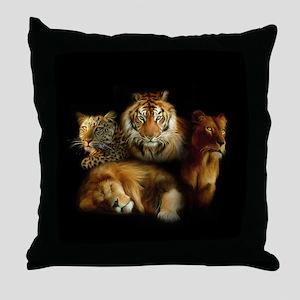 Wild Predators Throw Pillow