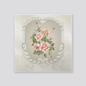 "Victorian Roses Square Sticker 3"" x 3"""