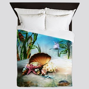 Underwater Sea Life Queen Duvet