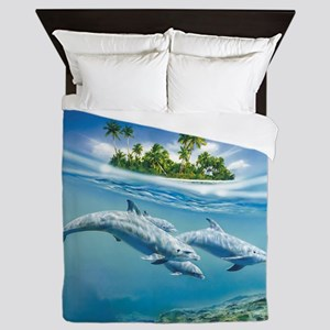 Tropical Island Fantasy Queen Duvet