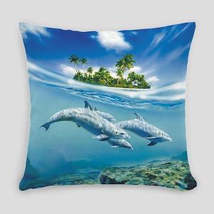 Tropical Island Fantasy Everyday Pillow