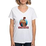 Naked Justice Women's V-Neck T-Shirt