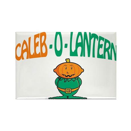 Caleb-O-Lantern Rectangle Magnet