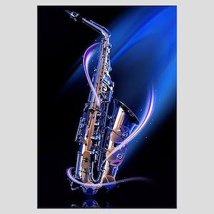 Blue Saxophone Wall Art