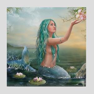 Marine Mermaid Tile Coaster