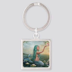 Marine Mermaid Square Keychain