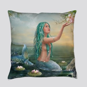Marine Mermaid Everyday Pillow