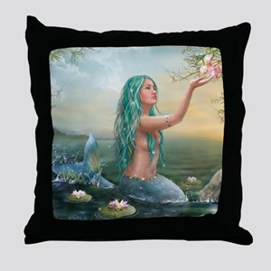 Marine Mermaid Throw Pillow