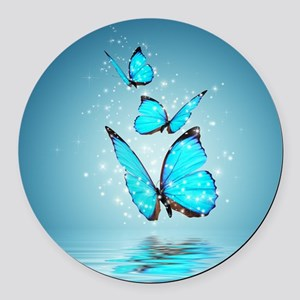 Magic Butterflies Round Car Magnet