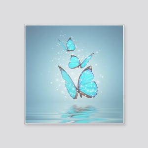"Magic Butterflies Square Sticker 3"" x 3"""