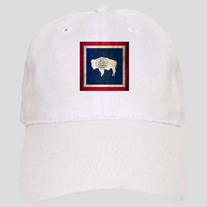 Grunge Wyoming Flag Cap