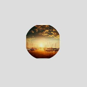 Golden Marina Sunset Mini Button