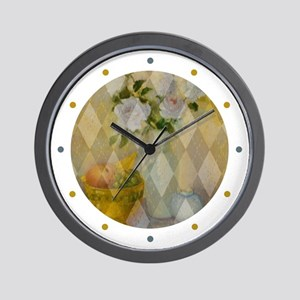 Roses and Fruit Wall Clock