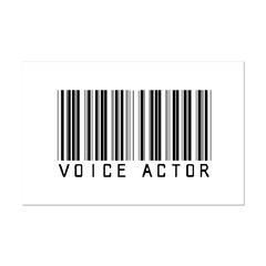 Voice Actor Barcode Posters