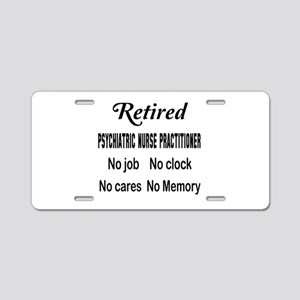 Retired Psychiatric Nurse P Aluminum License Plate