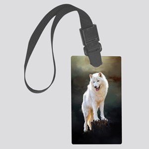 Arctic wolf Luggage Tag