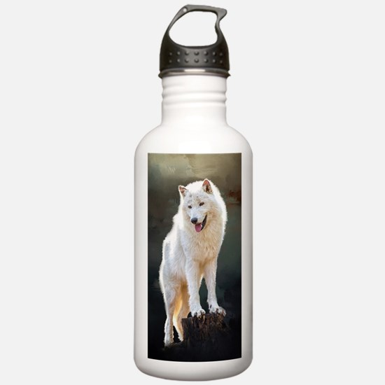 Arctic wolf Water Bottle
