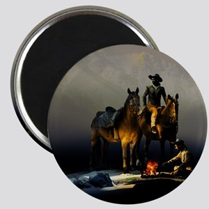 Cowboys and Horses Magnet