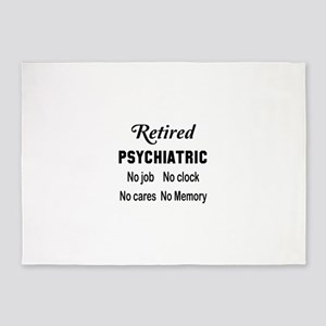 Retired Psychiatric 5'x7'Area Rug