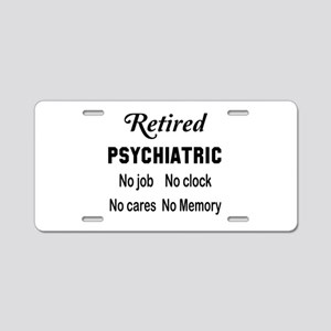 Retired Psychiatric Aluminum License Plate