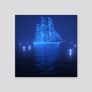 """The Flying Dutchman Square Sticker 3"""" x 3"""""""