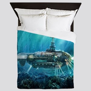 Steampunk Submarine Queen Duvet
