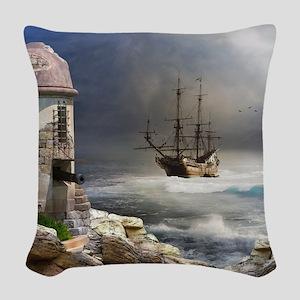 Pirate Bay Woven Throw Pillow