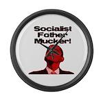 Socialist Fother Mucker! Large Wall Clock