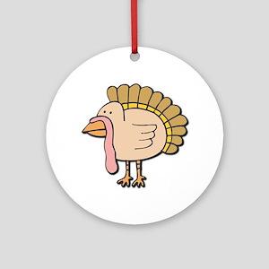 Cute Turkey Keepsake (Round)