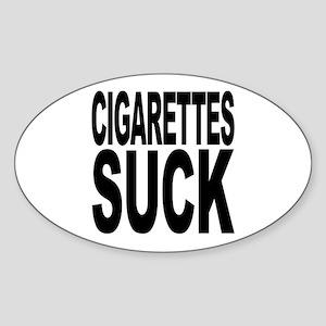 Cigarettes Suck Oval Sticker