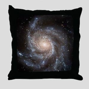 Spiral Galaxy (M101) Throw Pillow