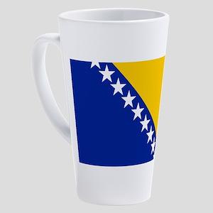 Flag Of Bosnia 17 Oz Latte Mug