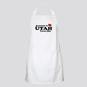 Somebody In Utah Loves Me BBQ Apron
